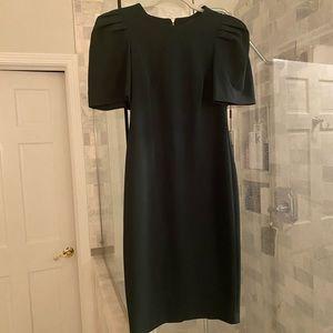NWT Puffer Sleeve Deep Green Calvin Klein Dress